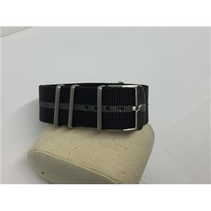 Luminox Watchband.Regimental Stripe.Black and Gray 23mm w/ Steel Hardware