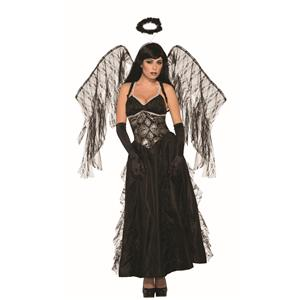 Fallen Black Angel Adult Gothic Costume Dress