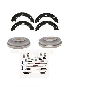 Focus Rear Brake Shoes Drums with Wheel Bearings Brake Hardware 2000-2008