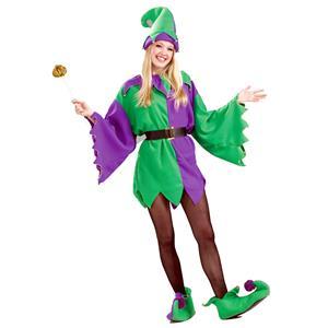 Mardi Gras Jester Unisex Adult Costume Elf Tunic Standard Size
