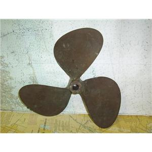 """Boaters Resale Shop of TX 1806 2522.04 BRONZE 3 BLADE 15LH14 PROP FOR 1"""" SHAFT"""