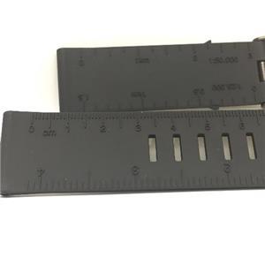 Luminox Watchband FP8830.Original 24mm Blk Rubber Strap.Ruler Embossed on Band.