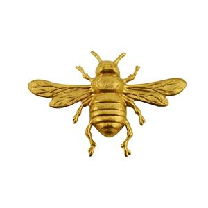"""BumbleBee Stamped Brass-Weldable Paintable Deco Fence Gate House Barn 2-1/8"""""""