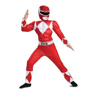 Red Power Ranger Classic Muscle Child Costume Size Large 10-12