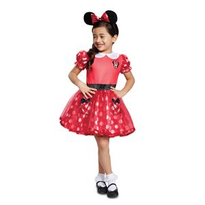 Red Disney Minnie Mouse Mickey Toddler Costume Size 3-4T