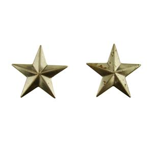 """Set of 2 Small Star Stamped Steel Weldable Paintable Deco Fence Gate Barn 1-1/2"""""""