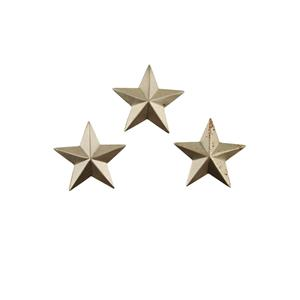 """Set of 3 Small Star Stamped Steel Weldable Paintable Deco Fence Gate Barn 1-1/4"""""""