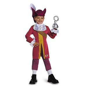 Captain Hook Pirate Peter Pan Disney Deluxe Costume Small 4-6