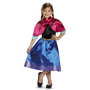 Classic Anna Traveling Frozen Toddler Princess Costume Size 3-4T