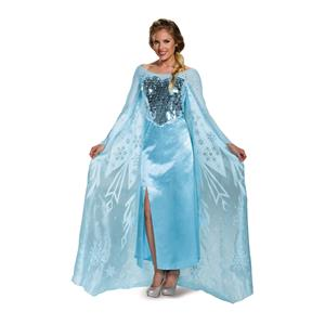 Elsa Ultra Prestige Disney Princess Dress Deluxe Costume Medium 8-10