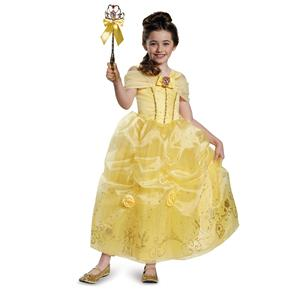 Disney Beauty and the Beast Belle Ball Gown Prestige Child Costume Medium 7-8