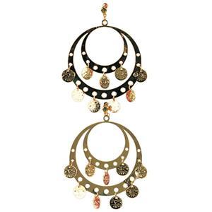 Gold Gypsy Earrings for Pierced Ears