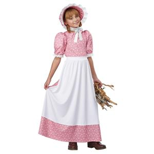 Early American Frontier Girl Dress Child Costume Large 10-12