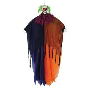"Creepy 67"" Scary Hanging Evil Skull Clown Prop"