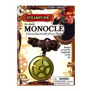 Steampunk Monocle Eyeglass Western Accessory Yellow Tint