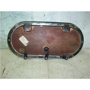 Boaters Resale Shop TX 1808 0225.05 BOMAR SS818-SS-0V PORTLIGHT, SCREEN & RING