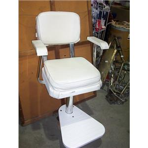 Boaters Resale Shop of TX 1808 1277.02 POMPANETTE HELM CHAIR, FOOT REST & BASE