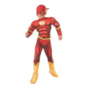 The Flash Deluxe Boys Child Costume Size Large 12-14