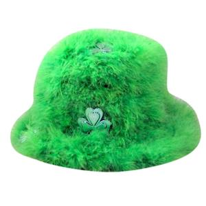 St.Patrick's Day Green Marabou Top Hat Great For Party or Parade