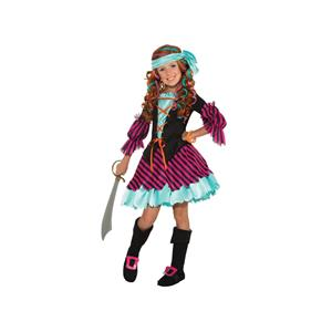 Salty Taffy Girl's Pirate Costume Small 4-6