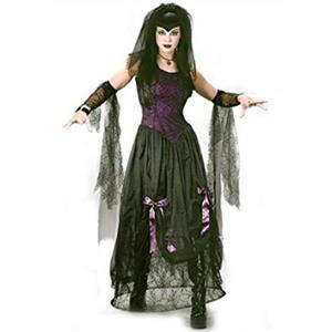 Goth Black Widow Spider Princess Adult Costume S/M