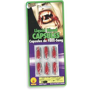 Vampire Fake Blood Capsules with Realistic Blood