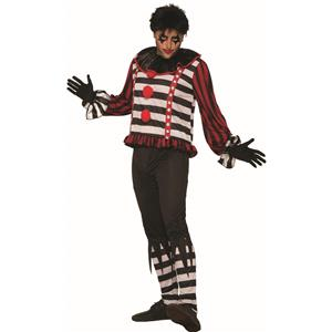 Mr. Mayhem Killer Mime Clown Costume for Men Standard Size
