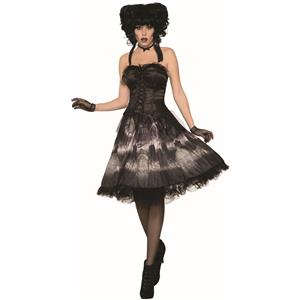 Cemetery Doll Black Gothic Dress Costume Standard