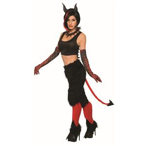 Deluxe Devil Pants With Tail Costume Standard