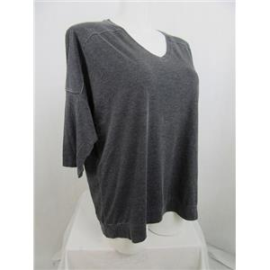 Calvin Klein Performance Size 2X Charcoal Cotton/Polyester V-Neck T-Shirt
