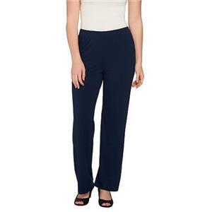 Susan Graver Size XXS Sapphire Dolce Knit Comfort Waist Wide Leg Pull-On Pants