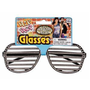 Forum Unisex Hip Hop Slot Rhinestone Glasses (Kanye Style)