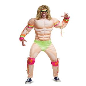 Disguise Men's Ultimate Warrior Muscle Adult Costume XXL (50-52)