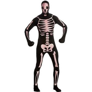 Skeleton Glow-in-the-Dark 2nd Skin Suit Adult Costume Medium