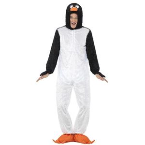 Smiffy's Men's Penguin Costume Includes Jumpsuit with Hood