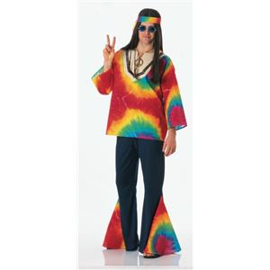 70s Psychedelic Sam Feelin' Groovy Tie Dye Hippie Adult Costume