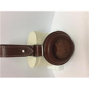 Swiss Army Pocket Watch FOB. Belt Attaching All Leather Pocket Watch Case w/Logo