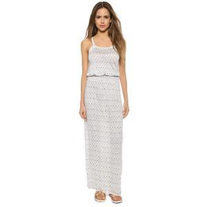 S NEW Joie Narod New Moon Blue /White Printed Slub Sleeveless Rayon Maxi Dress