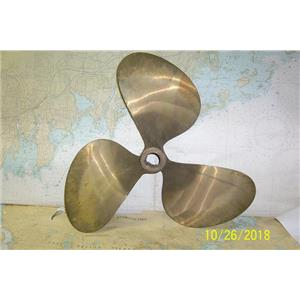 "Boaters' Resale Shop of TX 1810 0422.72 BRONZE 3 BLADE 22RH16 PROP- 1.75"" SHAFT"