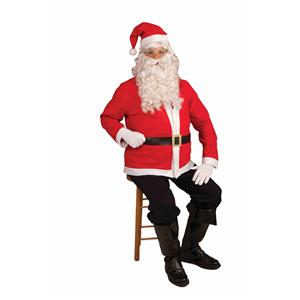 Red Santa Clause Jacket Set Adult Costume