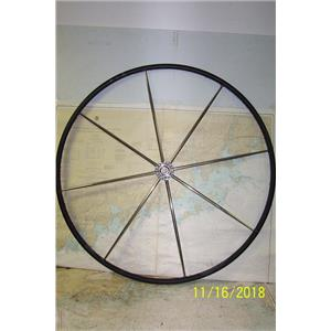 """Boaters Resale Shop of TX 1811 0774.01 LEATHER WRAPPED 42"""" STEERING WHEEL"""