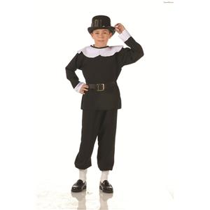 Child Pilgrim Boy Costume Size Medium
