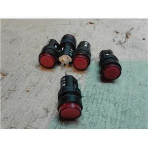 IDEC AP6M111-R PILOT LIGHT 16MM RED *LOT OF 5*