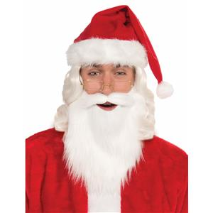 Simply Santa White Beard and Mustache Christmas Costume Santa Claus Accessory