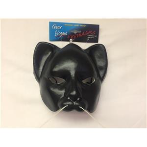 Black Vinyl Cat Half Mask One Size