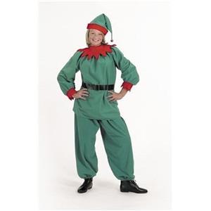 Halco Christmas Elf Velour Santa Helper Costume Suit Adult Medium Size 8-12