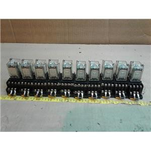 Omron MY4N-DC24 POWER RELAY 5A 24VDC 14PIN w/ PYF14a 14PIN Socket *LOT OF 10*