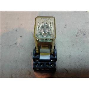 IDEC RY4S-UL-DC24V RELAY W/ INDICATOR LIGHT 5AMP 14PIN 24VDC COIL & Relay Socket