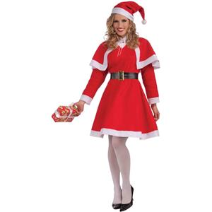 Women's Miss Santa Christmas Costume Size Standard 6-14 Dress