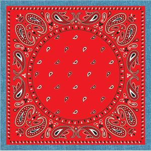 Way Out West Cowboy Red Bandanna Drink Coaster Set of 6